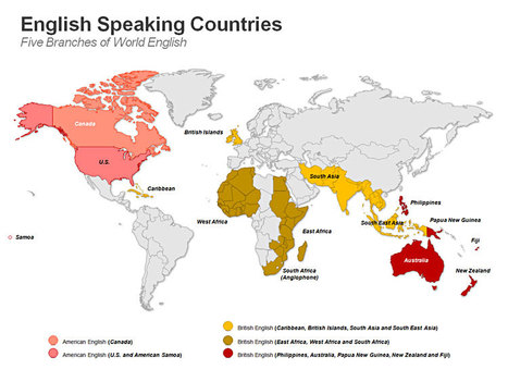 English Speaking Countries Map - PowerPoint Slides | English speaking countries | Scoop.it