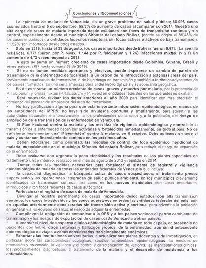 Vacuven / Guía de Salud del Viajero Nacional e Internacional. Venezuela: FORO: EPIDEMIA DE MALARIA EN VENEZUELA. UN GRAVE PROBLEMA DE SALUD PÚBLICA EN RIESGO DE EXPANSIÓN.   Salud Publica   Scoop.it