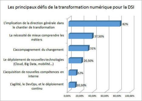 Le DSI : l'un des principaux sponsors de la transformation digitale en France - JDN | Transformation digtale des entrepises | Scoop.it