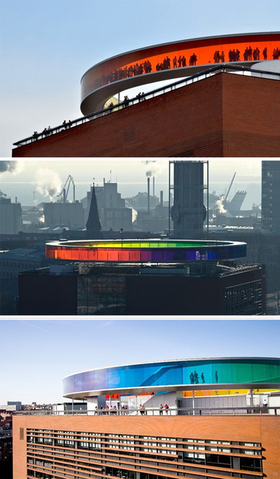 Panoramic Rainbow: Circular Space Spans Color Spectrum | Communication design | Scoop.it