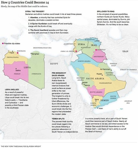How 5 Countries in the Middle East Could Become 14 - Divide to Rule | Saif al Islam | Scoop.it