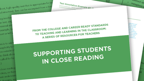 Close Reading | The Center on Standards & Assessment Implementation | AdLit | Scoop.it