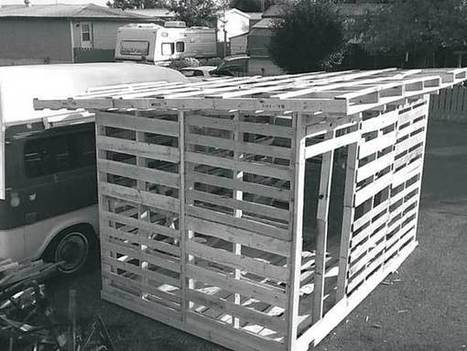 How to Build a Garden Shed Out of Pallet Wood - Farm and Garden - GRIT Magazine   Sheds   Scoop.it
