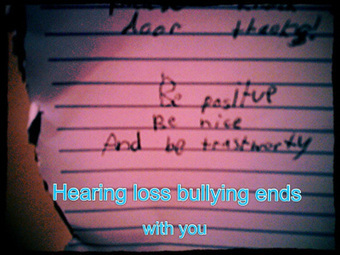 How Can *You* Stop Hearing Loss Bullying? | Lipreading Mom | People With Hearing Loss | Scoop.it