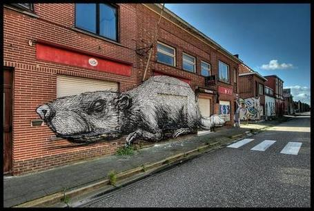 The Awesome Graffiti of Belgium's Doomed Ghost Town | World of Street & Outdoor Arts | Scoop.it