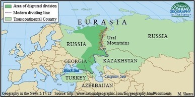 Geography in the News: Eurasia's Boundaries | Geography Education | Scoop.it