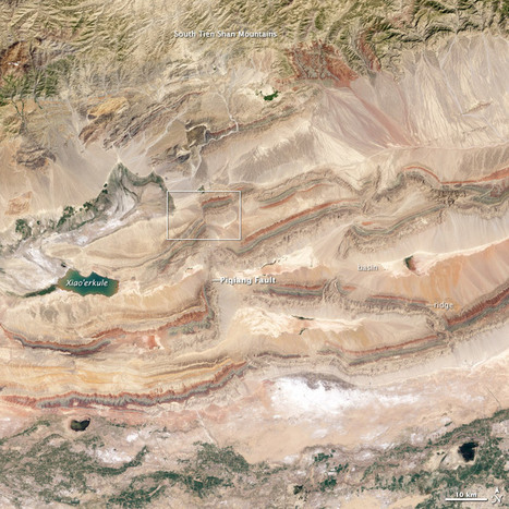 Faults in Xinjiang : Image of the Day | Geography: Australian Curriculum | Scoop.it