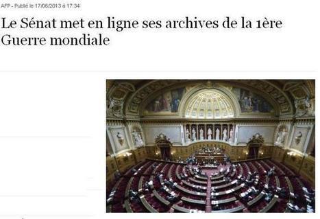 Sénat : archives de la première guerre mondiale | Théo, Zoé, Léo et les autres... | Scoop.it