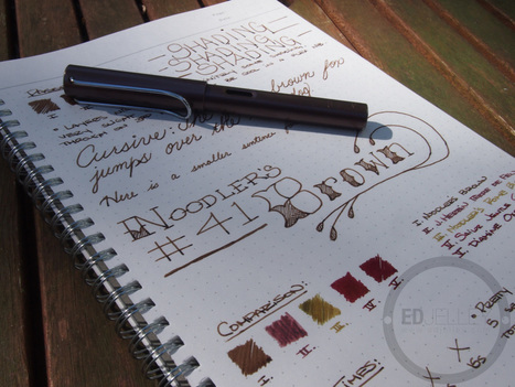 Noodler's #41 Brown - Ink Review   Writing instruments   Scoop.it