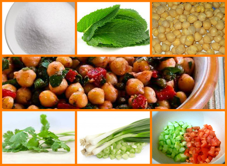 Chick Pea Salad with Mint Dressing / DietKart Official Blog | Beautiful Life | Scoop.it