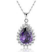 Top Selling - 925 Sterling Silver, Crystal & CZ Pendant (Purple)- Necklace   Jewelry   Scoop.it