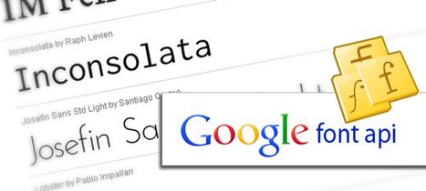 Typographie : Des polices gratuites pour votre site | Web & SEO | Web & SEO | Scoop.it