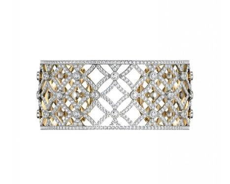 Latticework Wide Diamond Cuff | Diamond Solitaire Ring | Scoop.it