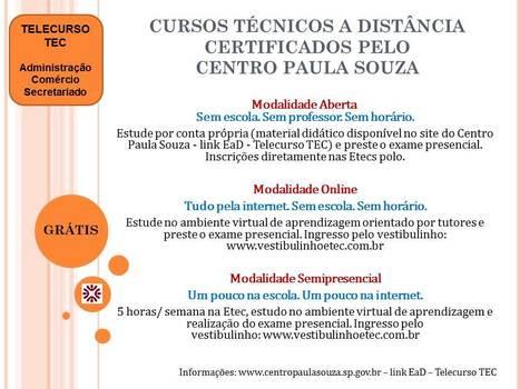 Telecurso TEC - Cursos Técnicos Gratuitos a Distância   Telecurso TEC   Scoop.it