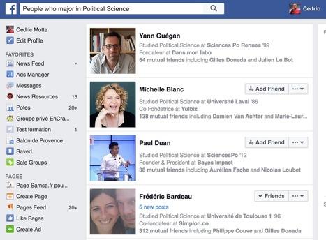Facebook graph search : les bonnes requêtes pour journaliste | Education et TICE | Scoop.it