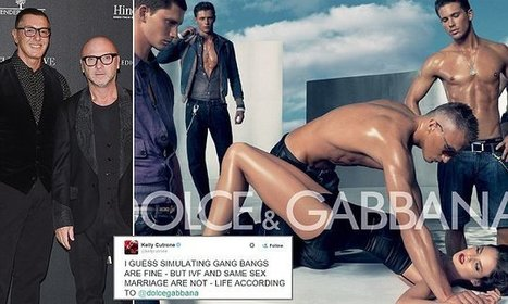 Dolce & Gabbana under fire AGAIN for gang rape ad | Language and Gender | Scoop.it