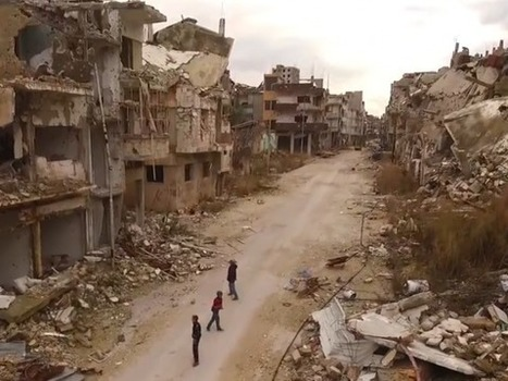 Drone footage reveals devastation of Homs in Syria | Archivance - Miscellanées | Scoop.it