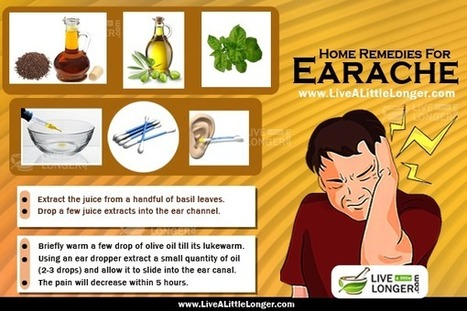 Home Remedies To Treat Earache In Adults And Children | Human Brain Facts | Scoop.it