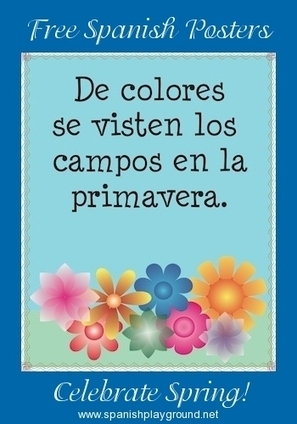 Printable Spanish Posters and Coloring Pages for Spring | Preschool Spanish | Scoop.it