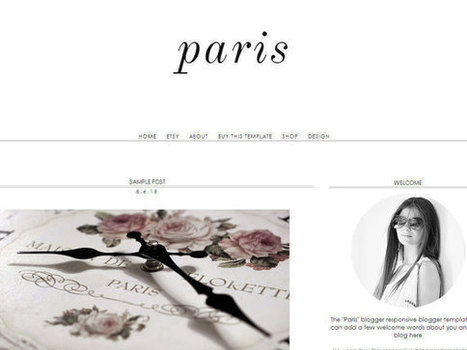 Items similar to Responsive Blogger Template - Paris - -Premade Blogger Template - Blogger Theme - Blogspot Template - Instant Download on Etsy | Blogger themes | Scoop.it