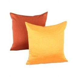 Solid Yarn Dyed Mustard Yellow Polydupion Reversible Cushion Cover | Fashion & Accessories | Scoop.it