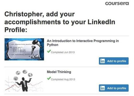 LinkedIn Sharpens Education Focus: Self-Serve Widget Lets Users Add Certifications While On Other Sites | The Daily Badger | Scoop.it