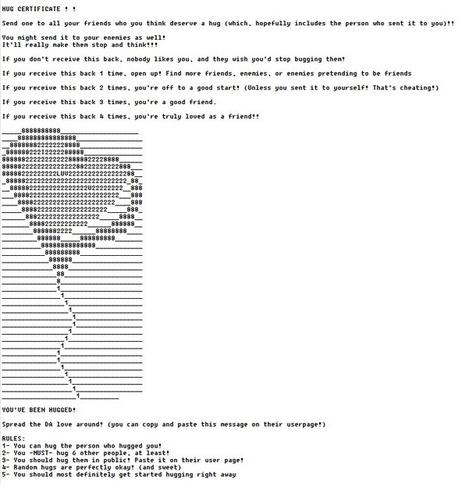 ASCII Art Used in Chain Mail Online - ASCII Artist | ASCII Art | Scoop.it