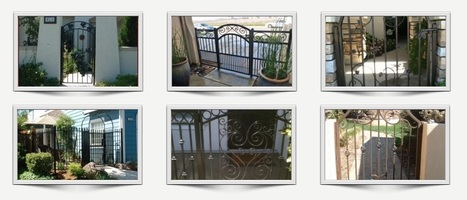 New Iron Gate Designs with Installations | Ornamental Iron | Wrought iron fencing | Driveway gate | Scoop.it