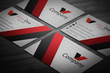 Elegant Corporate Business Card Template | Business Cards | Scoop.it