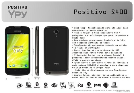 Positivo Ypy Y400 terá visual do Galaxy X, Android 4.0 e dual-chip - Android Brasil Market | Android Brasil Market | Scoop.it