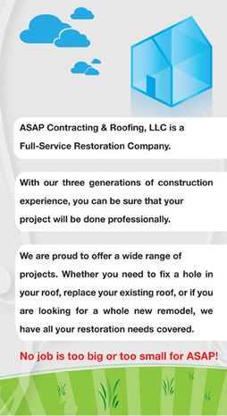 ASAP Contracting & Roofing, LLC | ASAP Contracting & Roofing, LLC | Scoop.it