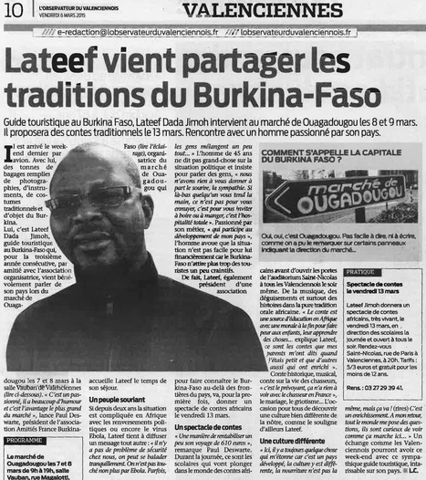 Lateef vient partager les traditions du Burkina-Faso | Veille locale | Scoop.it