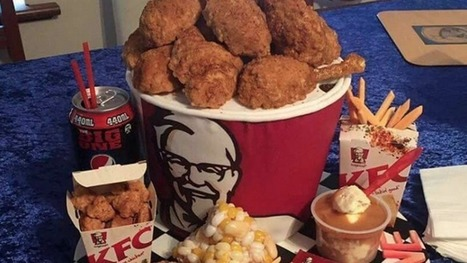 This greasy bucket of Kentucky Fried Chicken is actually a cake | Prozac Moments | Scoop.it