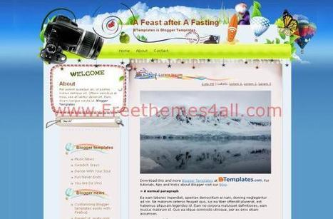 Blue Summer Travel Free Blogger Theme Download | Blogger themes | Scoop.it