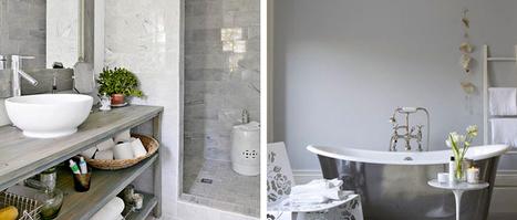 Salle de bain grise, idée deco en gris et blanc   Immobilier   Scoop.it