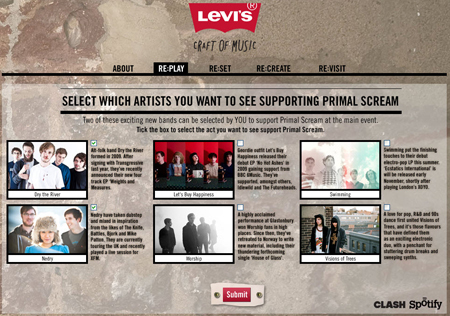 «The Craft of Music», l'évènement musical Levi's - Art & Brand Content | Sound For Your Brain | Scoop.it