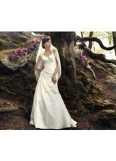 A Line Spaghetti Strap Court Train Satin Ivory Wedding Dress H1ly0013 for $890 | Landybridal 2014 wedding dress | Scoop.it