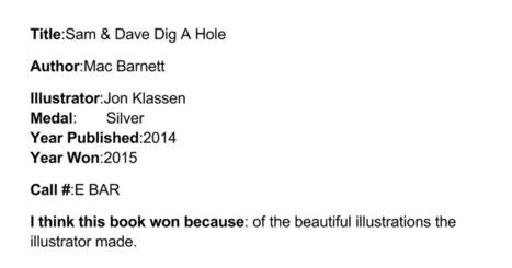 Caldecott Book - Zackary Hassan | Caldecott Medal Winning Books (Created by 3rd graders) | Scoop.it