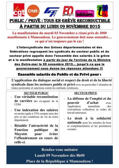 Grève générale unitaire lundi 09 novembre Mayotte revendique l'égalité et la fraternité.   Une méthode, un outil pour changer le monde.   Scoop.it