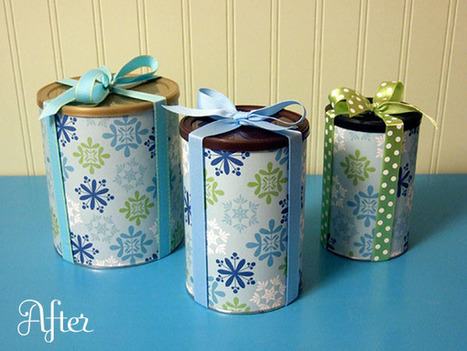 Reusable wrapped gift canisters - Crafty Nest | Kids Going Green!! | Scoop.it