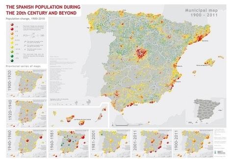 Un mapa sobre la población española de la UZ,  Mejor mapa del año   TIG   Scoop.it