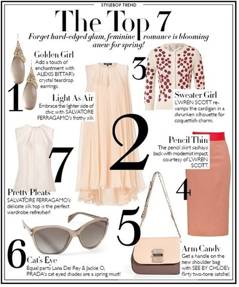 Pastel Colored Feminine Romance For Spring - Top 7 | Best of the Los Angeles Fashion | Scoop.it