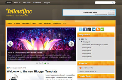 YellowLine | Blogger themes | Scoop.it