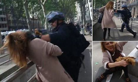 Shocking moment policeman violently attacks a woman | Econopoli | Scoop.it