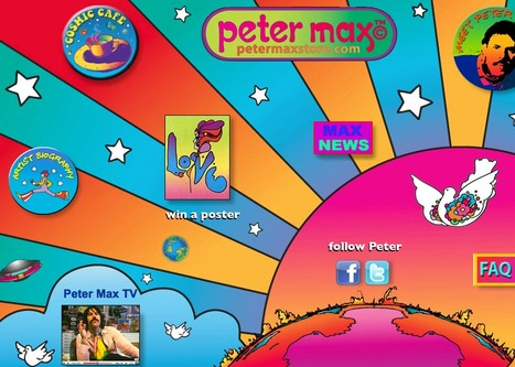 Official Peter Max Website --1960s | A Cultural History of Advertising | Scoop.it