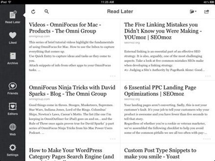 Instapaper Gets a Major Update and a Design Refresh for iPad — iPad Insight | iPad:  mobile Living, Learning, Lurking, Working, Writing, Reading ... | Scoop.it