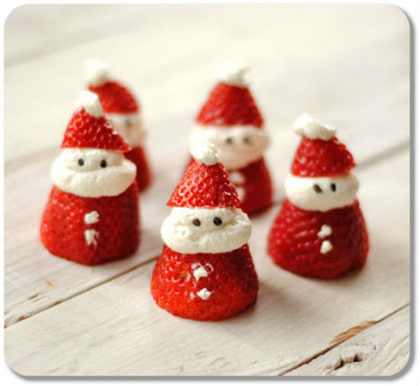 Santa Claus Strawberries Recipe | @Ease Catering Limited | Scoop.it