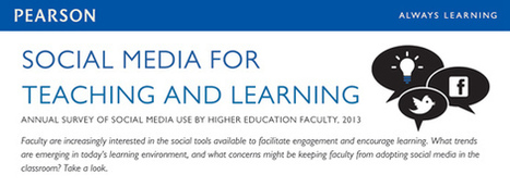 Pearson - Social Media for Teaching and Learning - Social Media Survey 2013 | Elearning, pédagogie, technologie et numérique... | Scoop.it