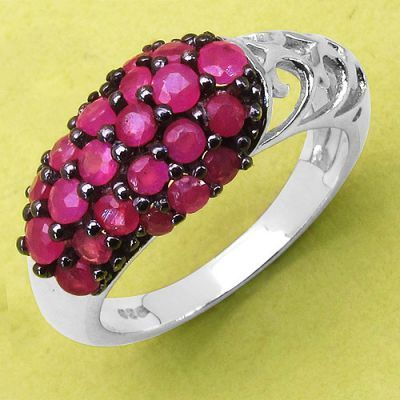 Weekly Super Sale : 1.77CTW Genuine Ruby .925 Sterling Silver Ring   Online Jewellery Shopping in India   Scoop.it