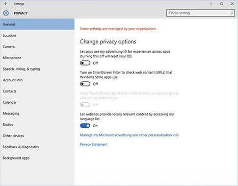 Windows 10 Shamelessly Wants Your Data. Here's How to Protect Yourself. | Digital TV | Scoop.it